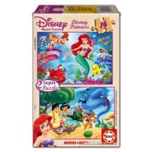 Jigsaw puzzle 16 pcs - 2x16 Disney Princess - Super (by Educa)