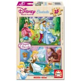 Jigsaw puzzle 25 pcs - 2x25 Cinderella - Super (by Educa)