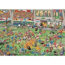 Jigsaw puzzle 1000 pcs - Championship Football - Jan van Haasteren (by Jumbo)