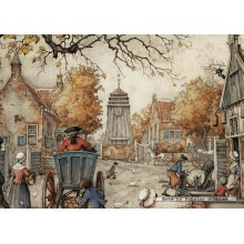 Jigsaw puzzle 1000 pcs - The Village Square - Anton Pieck (by Jumbo)