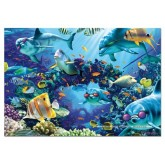 Jigsaw puzzle 500 pcs - Sunlit Sea - Genuine (by Educa)