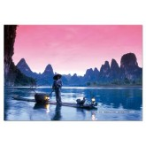 Jigsaw puzzle 500 pcs - Fishing on the Li River, China - Genuine (by Educa)