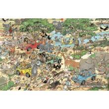 Jigsaw puzzle 1500 pcs - Safari - Jan van Haasteren (by Jumbo)