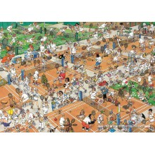 Jigsaw puzzle 1000 pcs - The Tennis Court - Jan van Haasteren (by Jumbo)