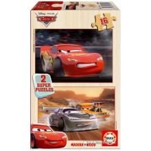 Jigsaw puzzle 16 pcs - Cars (2x) - Disney (by Educa)