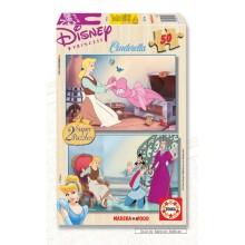 Jigsaw puzzle 50 pcs - Cinderella (2x) - Disney (by Educa)
