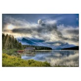 Jigsaw puzzle 1000 pcs - Maligne Lake Boathouse - Genuine (by Educa)
