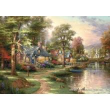 Jigsaw puzzle 1500 pcs - Hometown Lake - Thomas Kinkade (by Schmidt)