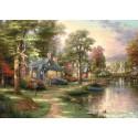 1500 pcs - Hometown Lake - Thomas Kinkade (by Schmidt)