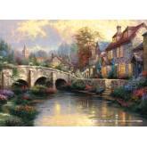 Jigsaw puzzle 1000 pcs - Cobblestone Brooke - Thomas Kinkade (by Schmidt)