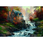 Jigsaw puzzle 1000 pcs - Cobblestone Mill - Thomas Kinkade (by Schmidt)