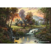 Jigsaw puzzle 1000 pcs - Mountain retreat - Thomas Kinkade (by Schmidt)