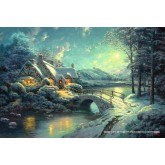 Jigsaw puzzle 500 pcs - Christmas Moonlight - Thomas Kinkade (by Schmidt)
