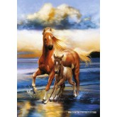 Jigsaw puzzle 1000 pcs - Mare and foal (by Schmidt)