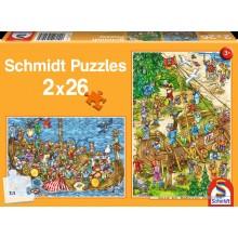 Jigsaw puzzle 26 pcs - Vikings (by Schmidt)
