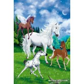Jigsaw puzzle 100 pcs - Bella and the foals - Bella Sara (by Schmidt)