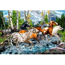Jigsaw puzzle 500 pcs - Horses Crossing the River (by Schmidt)