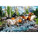 500 pcs - Horses Crossing the River (by Schmidt)