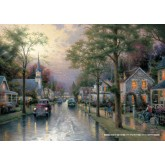 Jigsaw puzzle 1000 pcs - Hometown morning - Thomas Kinkade (by Schmidt)