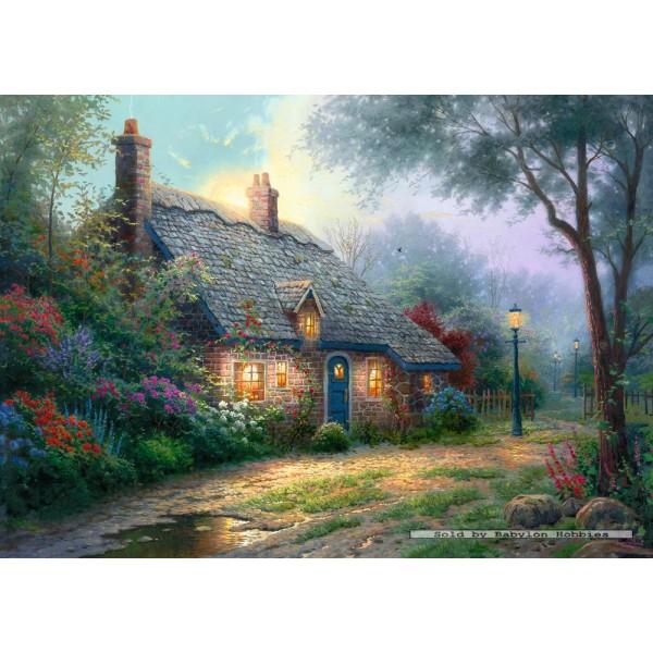 1000 Pcs Moonlight Cottage Thomas Kinkade By Schmidt