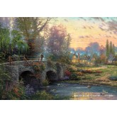 Jigsaw puzzle 1000 pcs - Cobblestone evening - Thomas Kinkade (by Schmidt)