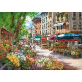 Jigsaw puzzle 1000 pcs - Paris Flower Market - Sam Park (by Schmidt)