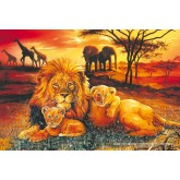 Jigsaw puzzle 100 pcs - Lion Family (by Schmidt)
