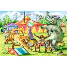 Jigsaw puzzle 26 pcs - In the circus (2x) (by Schmidt)
