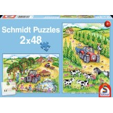 Jigsaw puzzle 48 pcs - Harvesting Time (by Schmidt)