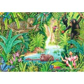 Jigsaw puzzle 1000 pcs - In the jungle (by Schmidt)