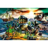 Jigsaw puzzle 150 pcs - Pirate Island with Pirate Figure - Playmobil (by Schmidt)