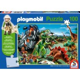 Jigsaw puzzle 100 pcs - In Dinoland - Playmobil (by Schmidt)