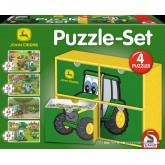 Jigsaw puzzle 26 pcs - Giftbox (4x) - John Deere (by Schmidt)