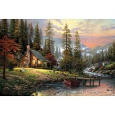 Jigsaw puzzle 500 pcs - A Peaceful Retreat  - Thomas Kinkade (by Schmidt)