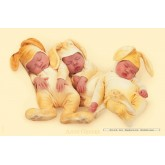 Jigsaw puzzle 1000 pcs - Three sleeping yellow bunnies - Anne Geddes (by Schmidt)