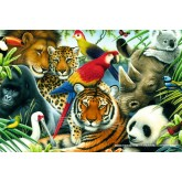 Jigsaw puzzle 60 pcs - In the Jungle (by Schmidt)