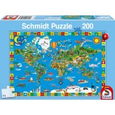 Jigsaw puzzle 200 pcs - Amazing World (by Schmidt)