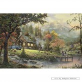 Jigsaw puzzle 500 pcs - Peaceful Moments at the River - Thomas Kinkade (by Schmidt)