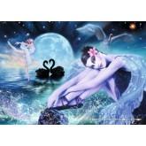 Jigsaw puzzle 2000 pcs - Black Swan, Balerina (by Schmidt)