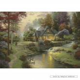 Jigsaw puzzle 1000 pcs - Peaceful Evening in a Cottage - Thomas Kinkade (by Schmidt)