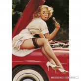 Jigsaw puzzle 1000 pcs - The Repair - Gil Elvgren (by Schmidt)