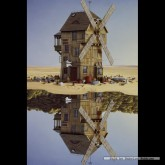 Jigsaw puzzle 500 pcs - Windmill Reflections - Jacek Yerka (by Schmidt)