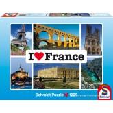 Jigsaw puzzle 1000 pcs - France - I Love ... (by Schmidt)
