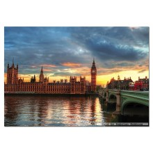 Jigsaw puzzle 1000 pcs - Sunset on River Thames (by Educa)