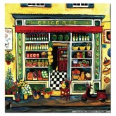 Jigsaw puzzle 1000 pcs - Grocery shop, Suzanne Etienne - Square (by Educa)