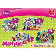 Jigsaw puzzle 3 pcs - Minnie Mouse 4 in 1 - Disney (by Jumbo)