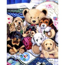 Jigsaw puzzle 300 pcs - Puppy Party - Jenny Newland (by Masterpieces)