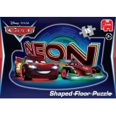 Jigsaw puzzle 15 pcs - Disney Pixar Cars Neon Shaped - Floor puzzles (by Jumbo)