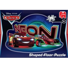 Jigsaw puzzle 15 pcs - Disney Pixar Cars Neon Shaped - Floor puzzles (by Jumbo)