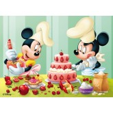 Jigsaw puzzle 45 pcs - Mickey Bakes Cake - Disney (by Nathan)
